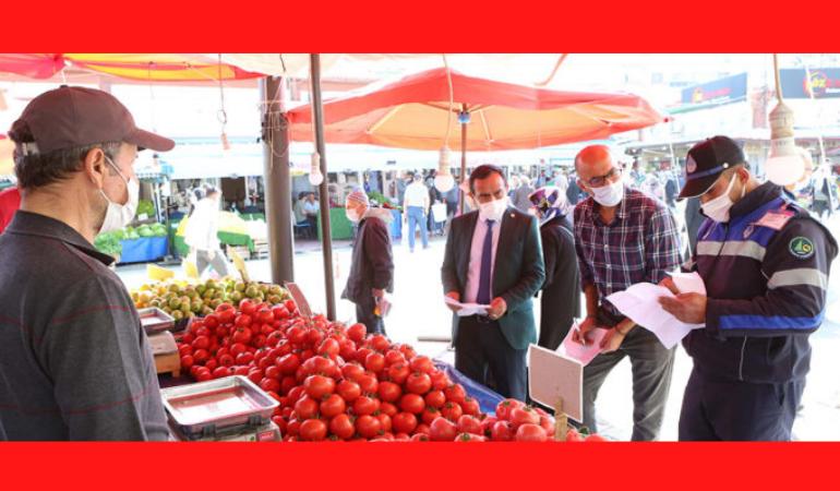 Bolu Belediyesi'nden pazar denetimi